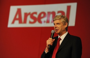 Wenger tried to lift the mood of the members in attendace
